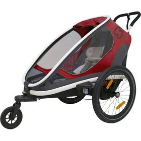 Hamax Outback One Remorque vélo, red/grey/black